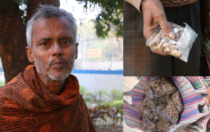 Selling peanuts to fulfil his son's dream